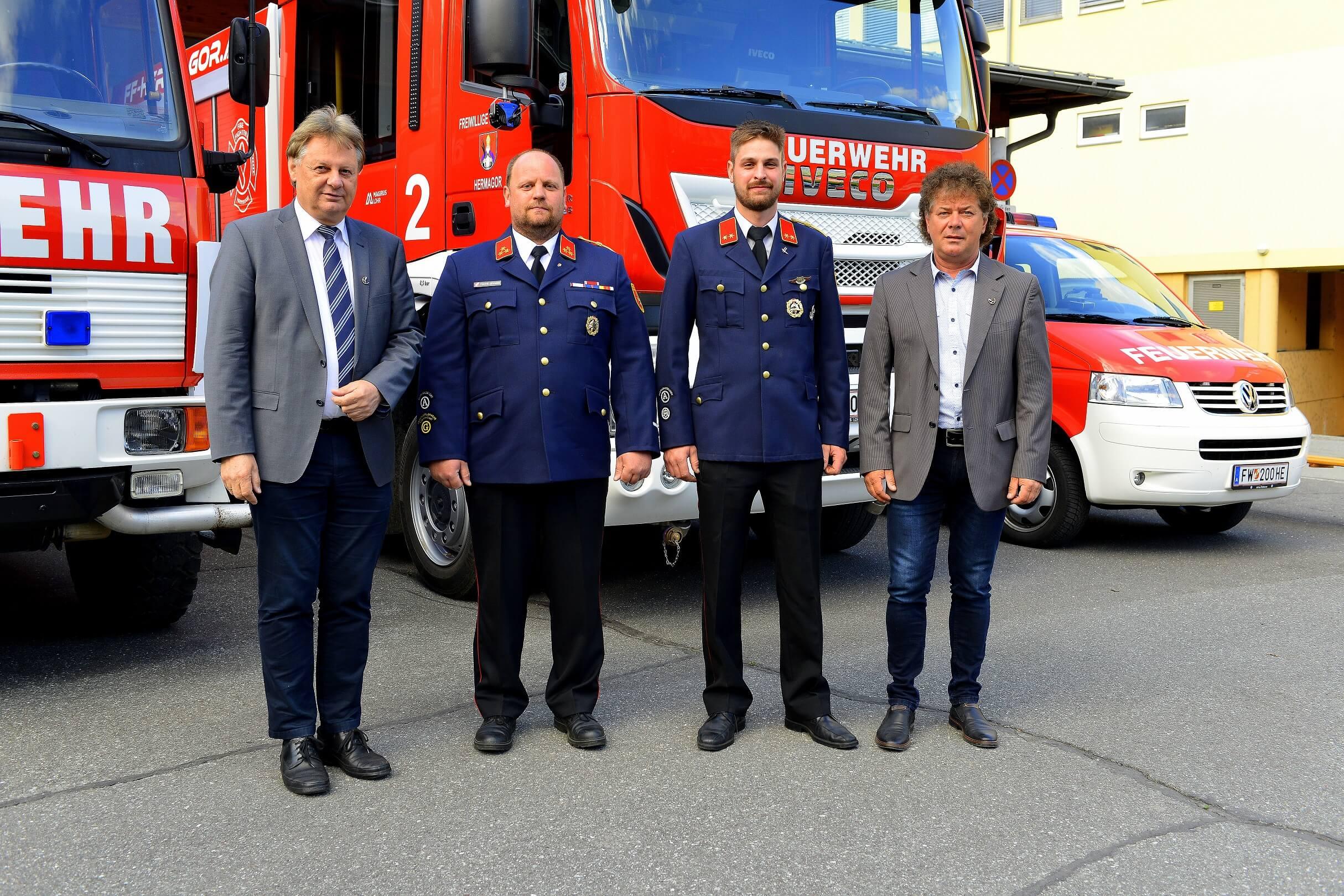 ©Hans Jost | Bgm. DI Leopold Astner, GFK Bernhard Tscheließnig, GFK-Stv. Florian Zimmermann und Vizebgm. Günter Pernul